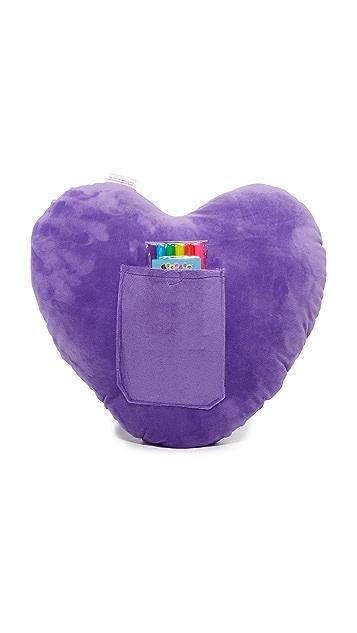 Бутик подарков Подушка Color Me в форме сердца