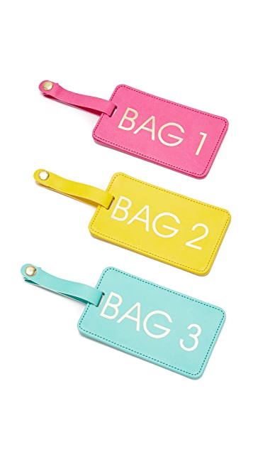 Gift Boutique Bags 1-2-3 Luggage Tag Box Set - Multi