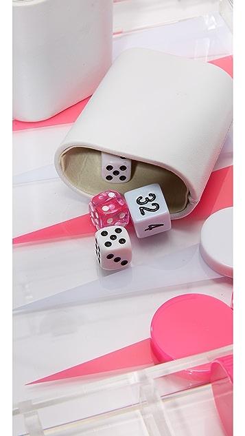 Gift Boutique Lucite Backgammon Set