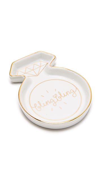Gift Boutique Bling Bling Ring Trinket Tray