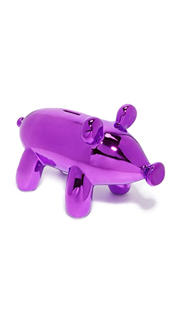 Gift Boutique Balloon Piggy Money Bank - Pink