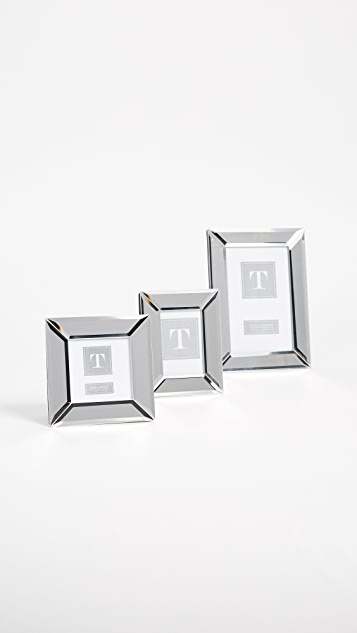Gift Boutique Set of Three Beveled Mirror Frames