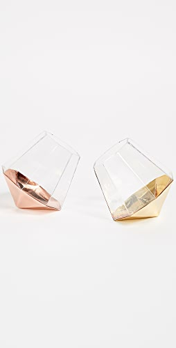 Gift Boutique - Set of 2 Diamond Glasses