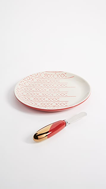 Gift Boutique Plate & Spreader Set
