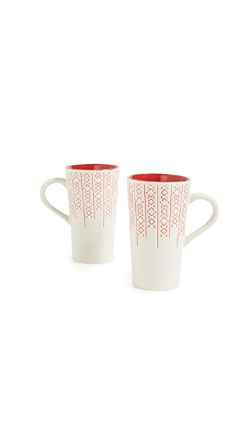Gift Boutique Latte Mug Set of Two