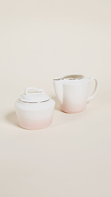 Gift Boutique Pretty In Pink Creamer & Sugar Serving Set