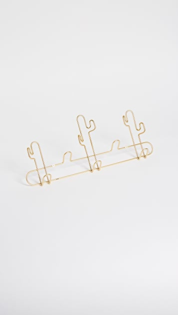 Gift Boutique Decorative Wall Rack - Brass