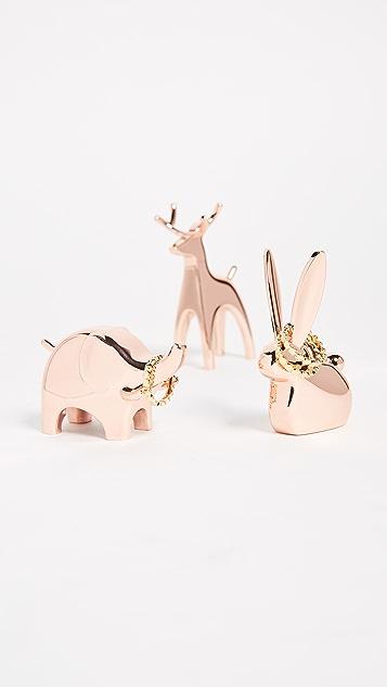 Gift Boutique Anigram Ring Holder Set of 3
