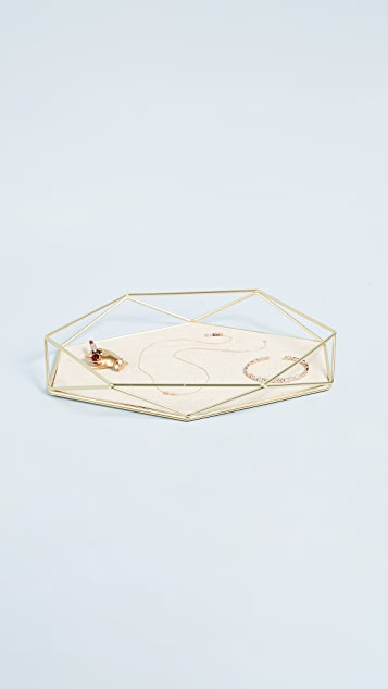 Gift Boutique Prisma Jewelry Tray - Brass