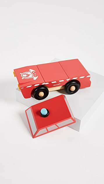 Gift Boutique Child's Fireman Magnetic Truck