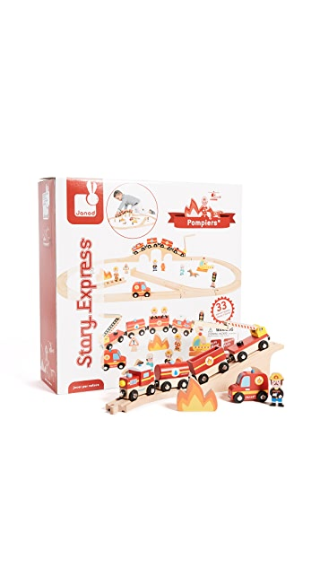 Gift Boutique Child's Story Express Firefighter Train Set