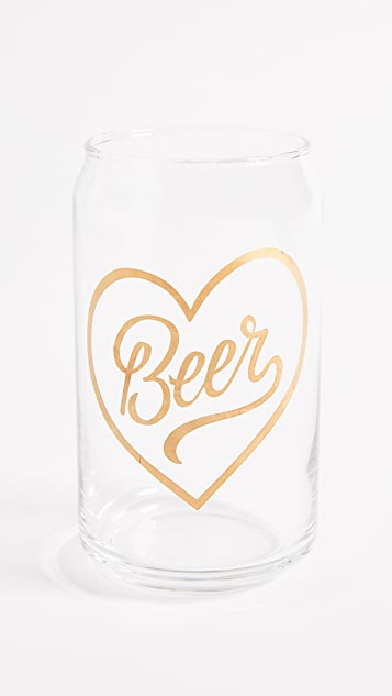 Gift Boutique Beer Heart Glass