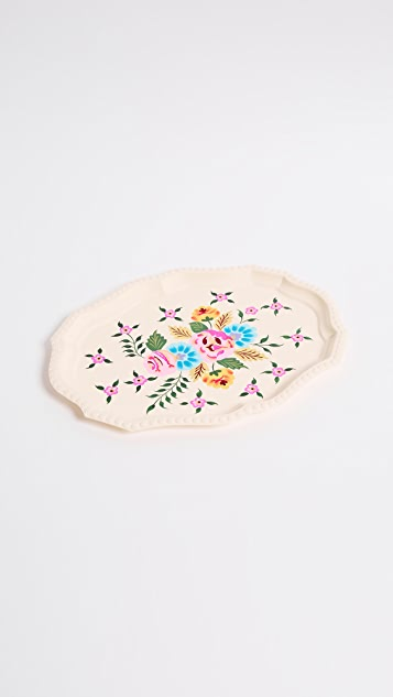 Gift Boutique Millifiori Tray - Soft Ivory