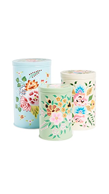 Gift Boutique Handpainted Nesting Canisters Set