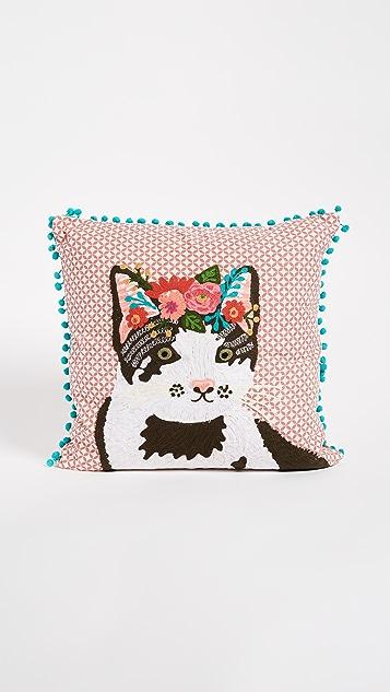 Gift Boutique Floral Cat Pillow