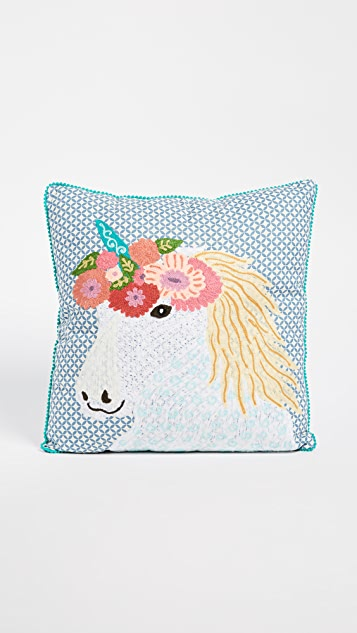 Gift Boutique Floral Unicorn Pillow