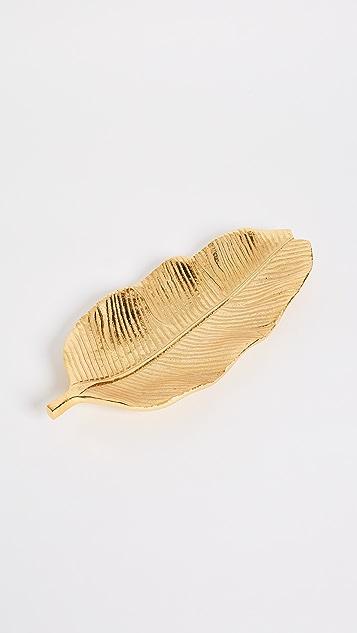Gift Boutique Banana Leaf Tray - Gold Banana Leaf