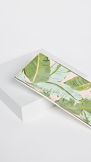 Gift Boutique Botanic Leaf Rectangle Trinket Tray