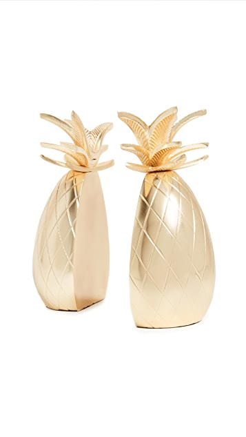 Gift Boutique Pineapple Book Ends Set of 2
