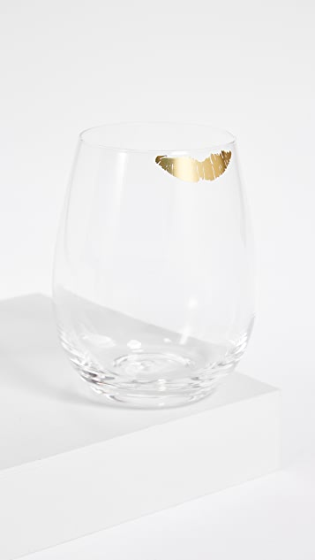Gift Boutique Kiss Stemless Wine Glass