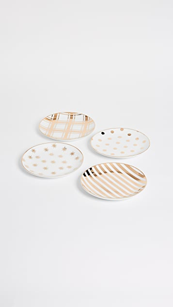 Gift Boutique Printed Dessert Plate Set of 4