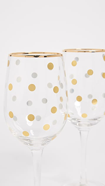 Gift Boutique Dot Wine Glass Set of 4