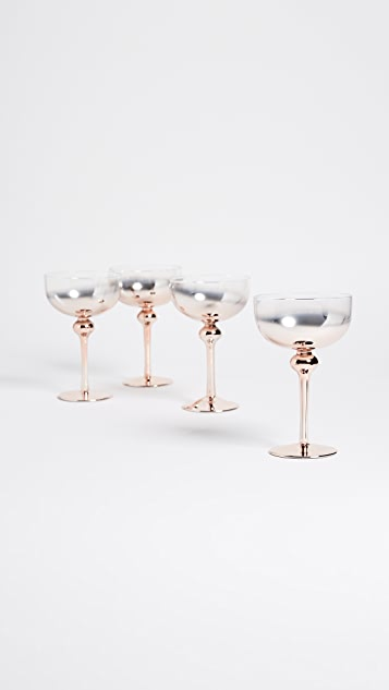 Gift Boutique Coup Glass Set of 4