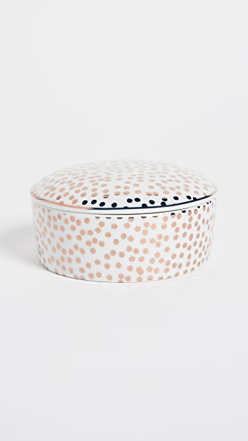 Gift Boutique Rose Dot Trinket Box