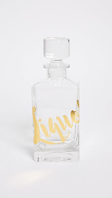 Gift Boutique Liquor Decanter - Gold