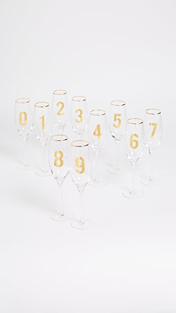 Gift Boutique Countdown Set of 10 Glasses