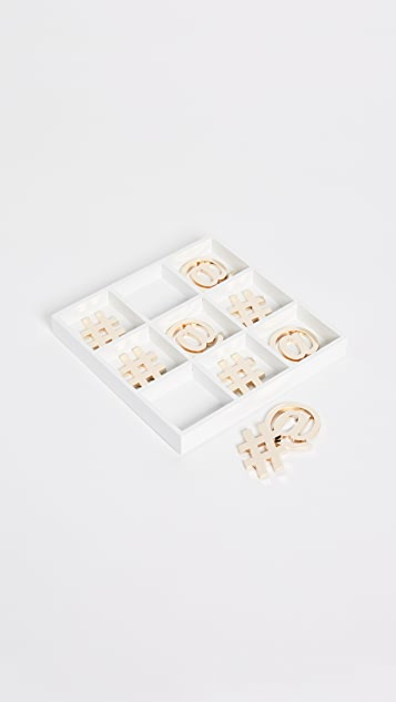 Gift Boutique Tic Tac Toe Game - Gold