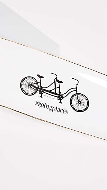 Gift Boutique Bicycle Trinket Tray