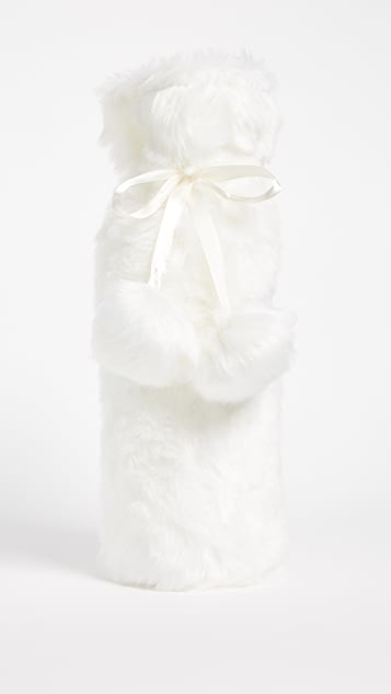 Gift Boutique Luxe Faux Fur Wine Bag