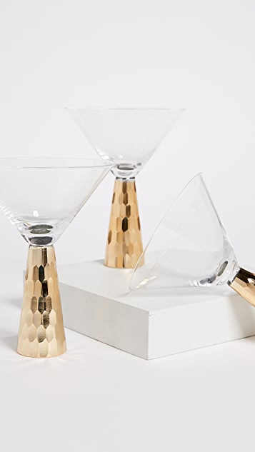 Gift Boutique Hammered Martini Glass Set of 4