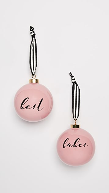 Gift Boutique Best Babes Ornament Set