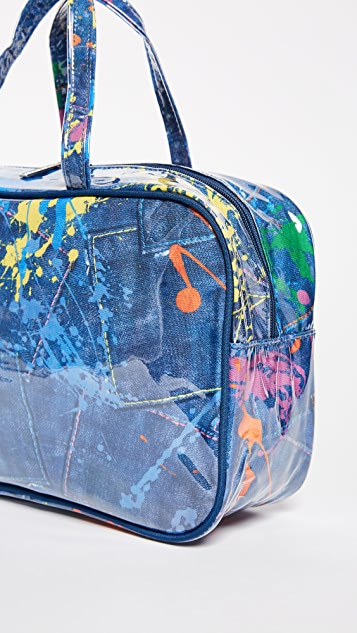 Gift Boutique Child's Paint Splatter Cosmetic Bag Set