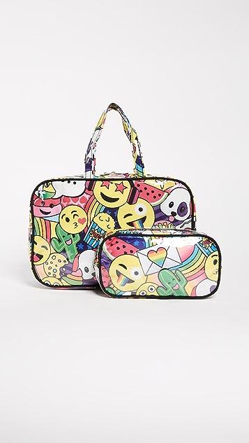 Gift Boutique Child's Emoji Cosmetic Case Set