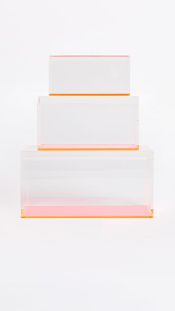Gift Boutique Flash Blocco Set of 3 Boxes - Neon Pink