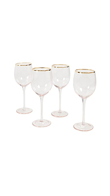 Gift Boutique 8 Oak Lane Set of 4 Wine Glasses