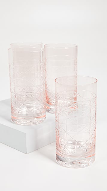 Gift Boutique Caned Tumbler Glasses