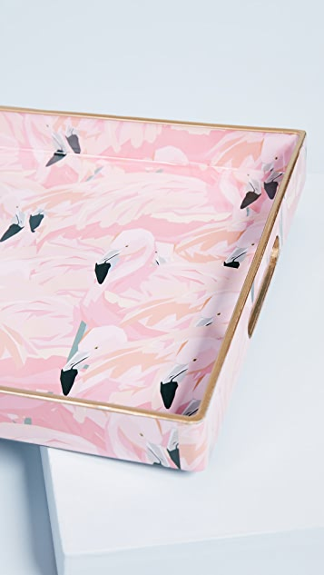Gift Boutique Flamingo Tray