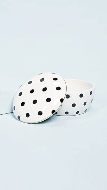 Gift Boutique Black & White Dot Trinket Box