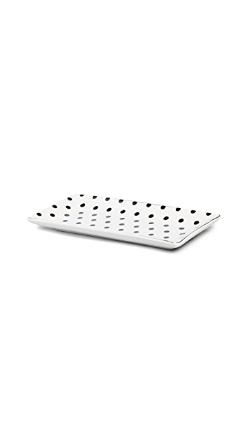 Gift Boutique Black & White Dot Trinket Tray
