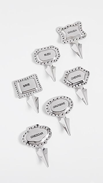 Gift Boutique Set of 6 Cheese Markers