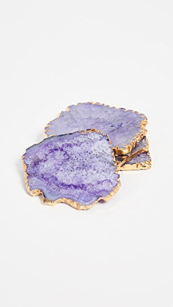 Gift Boutique Set of 4 Agate Coasters