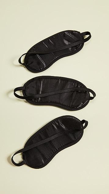 Gift Boutique Set of Three Sleeping Beauty Eye Masks