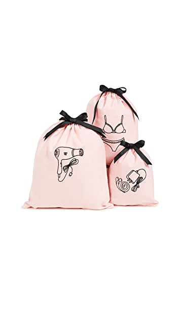 Gift Boutique Set of 3 Travel Organizing Bags