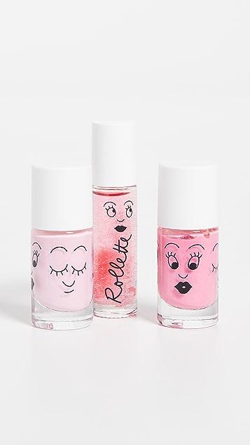 Gift Boutique Kid's Nailmatic Princess Castle Story Nail Polish / Lip Gloss Set