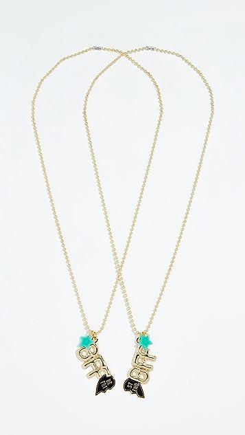 Gift Boutique Kid's Gunner & Lux BFF Necklace