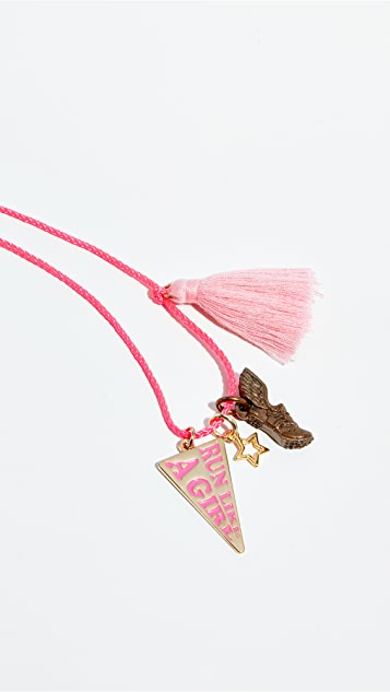 Gift Boutique Kid's Gunner & Lux Run Like a Girl Necklace